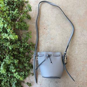 Zac Posen Belay Gray Leather Bucket Bag